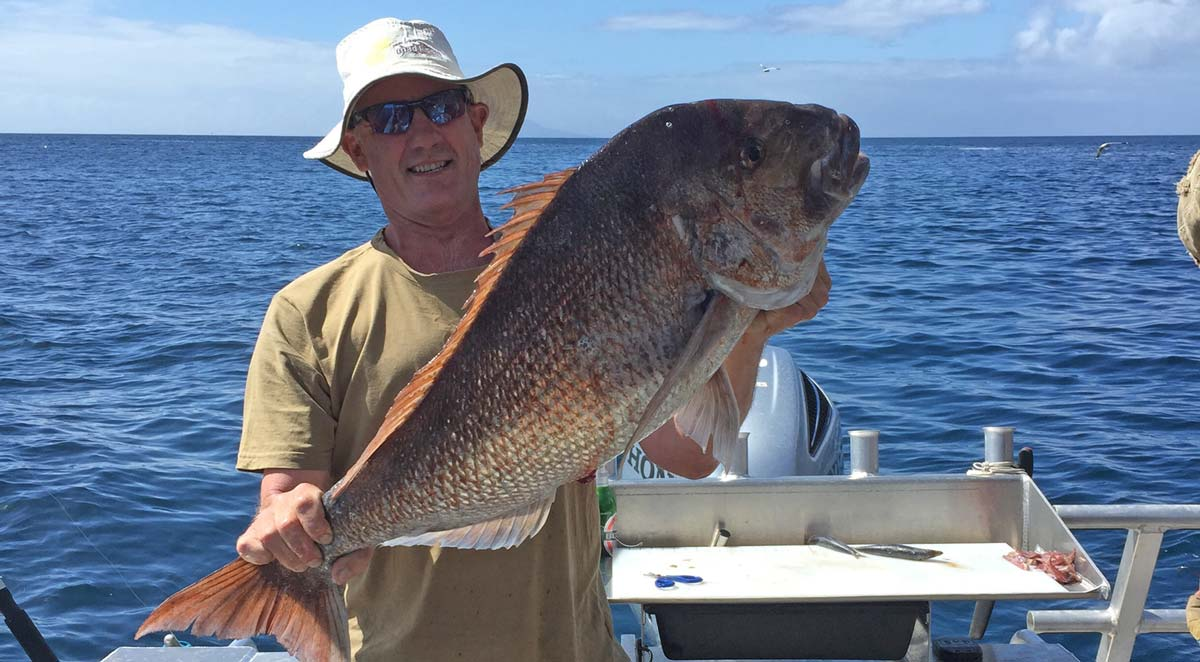 21lb Snapper caught off the Hen and Chicks