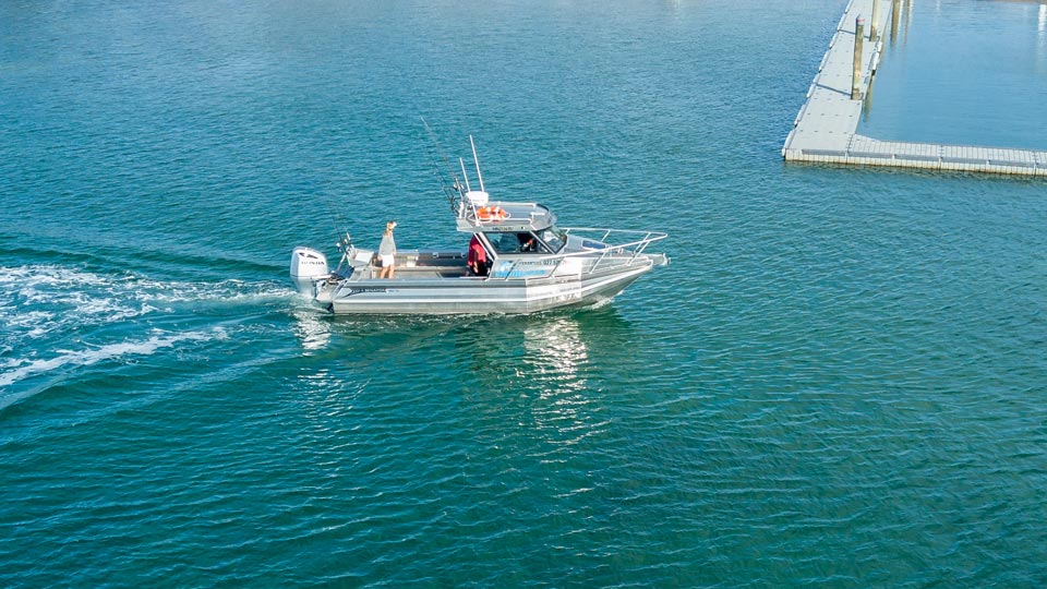 Fishing charters from Mangawhai and water taxi in Mangawhai - Fishmeister