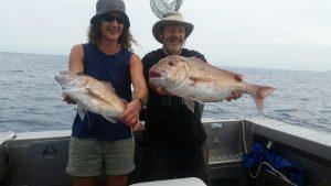Two happy fishos